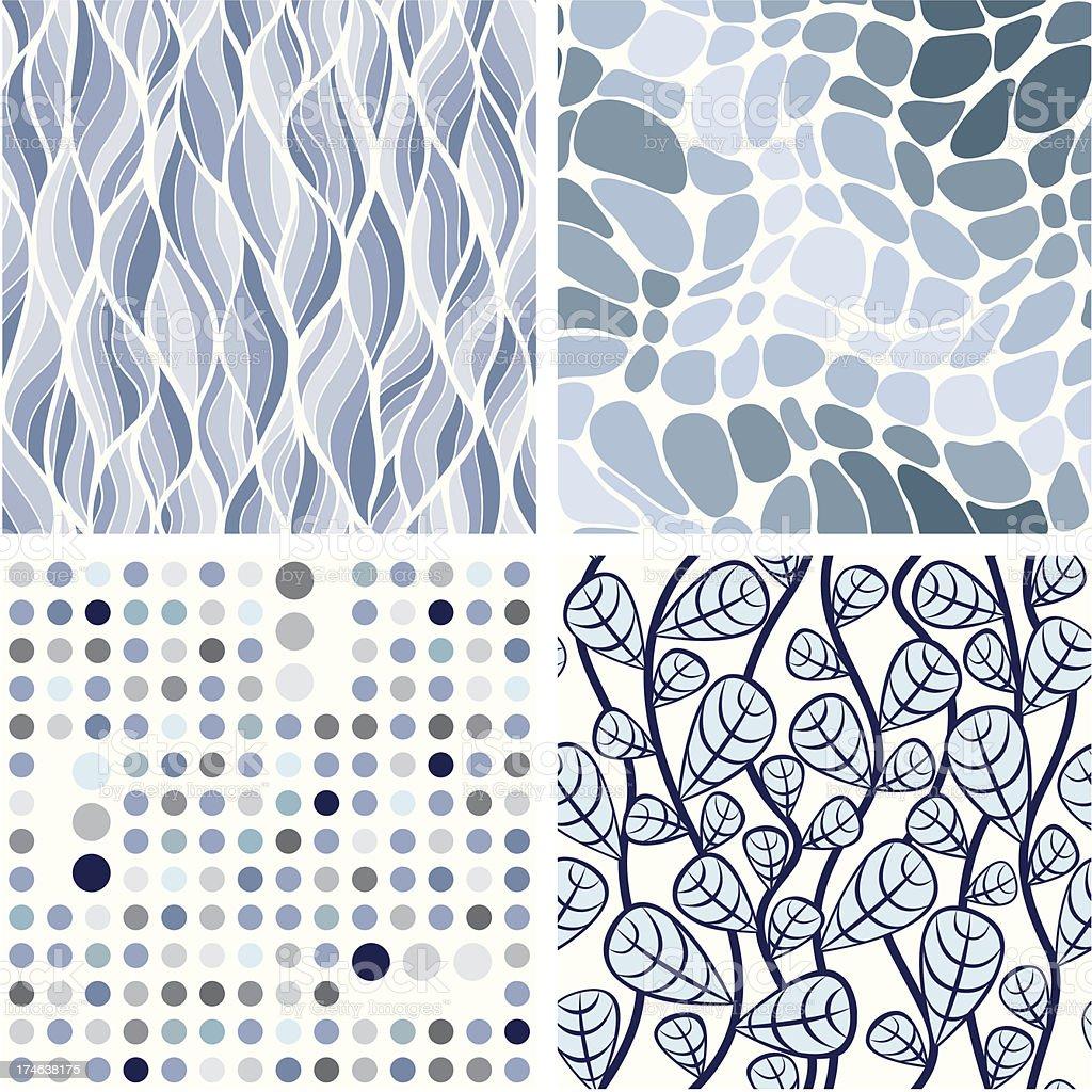 Set of stylish seamless ornaments royalty-free stock vector art
