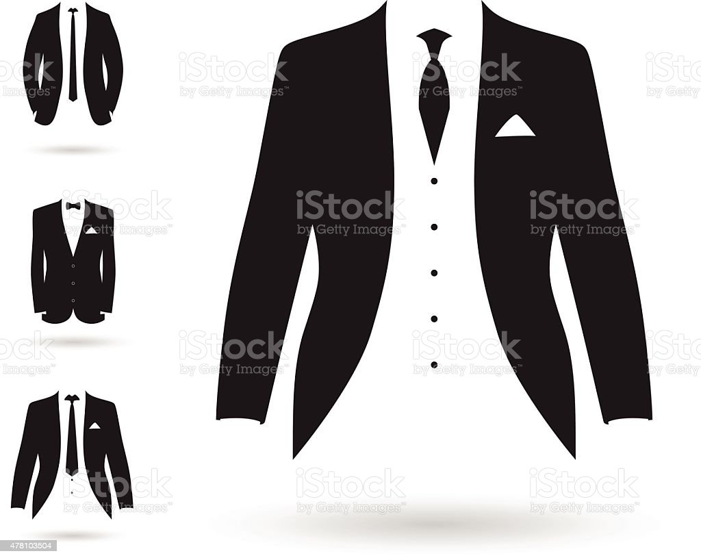 set of suits vector art illustration