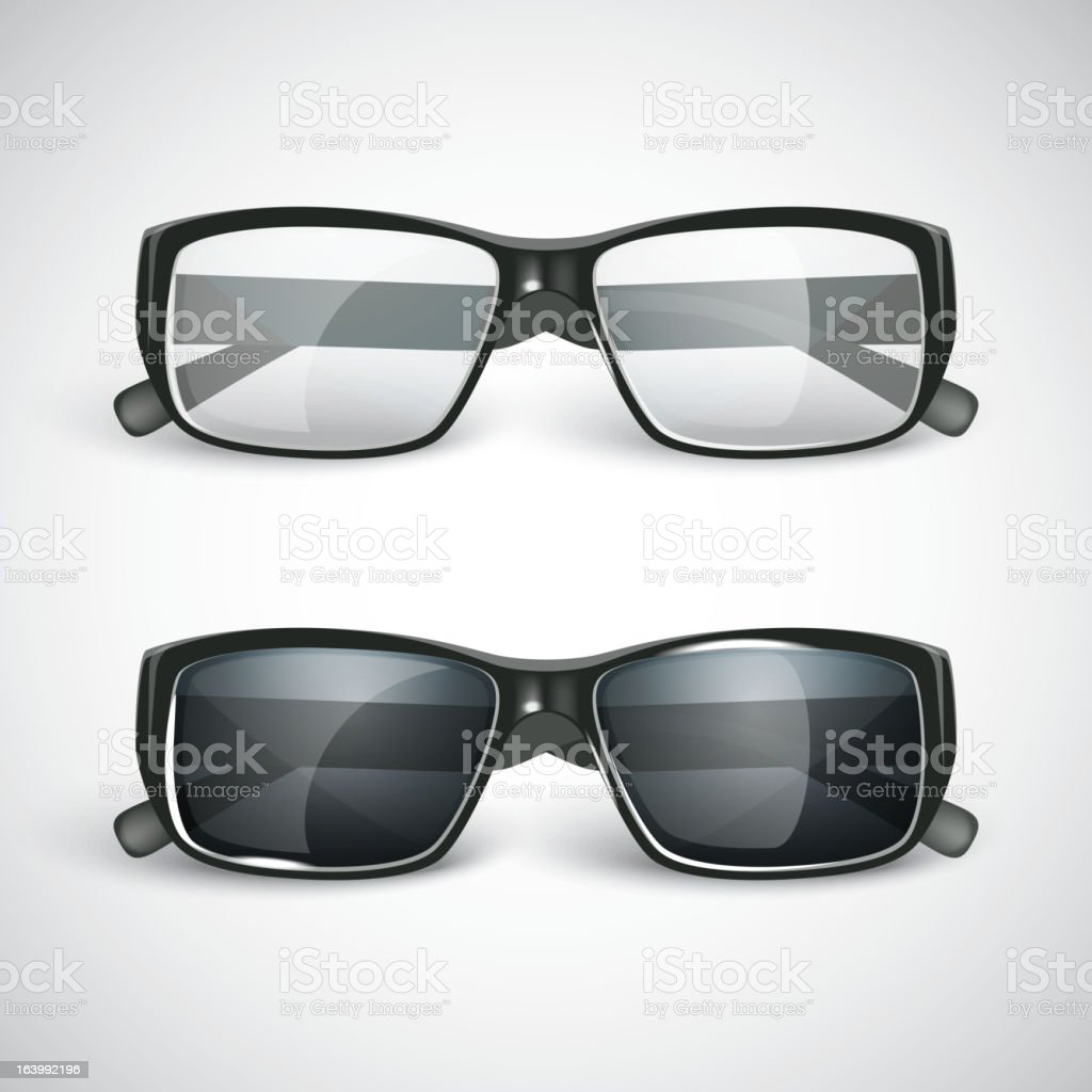 set of sunglasses and eyeglasses royalty-free stock vector art