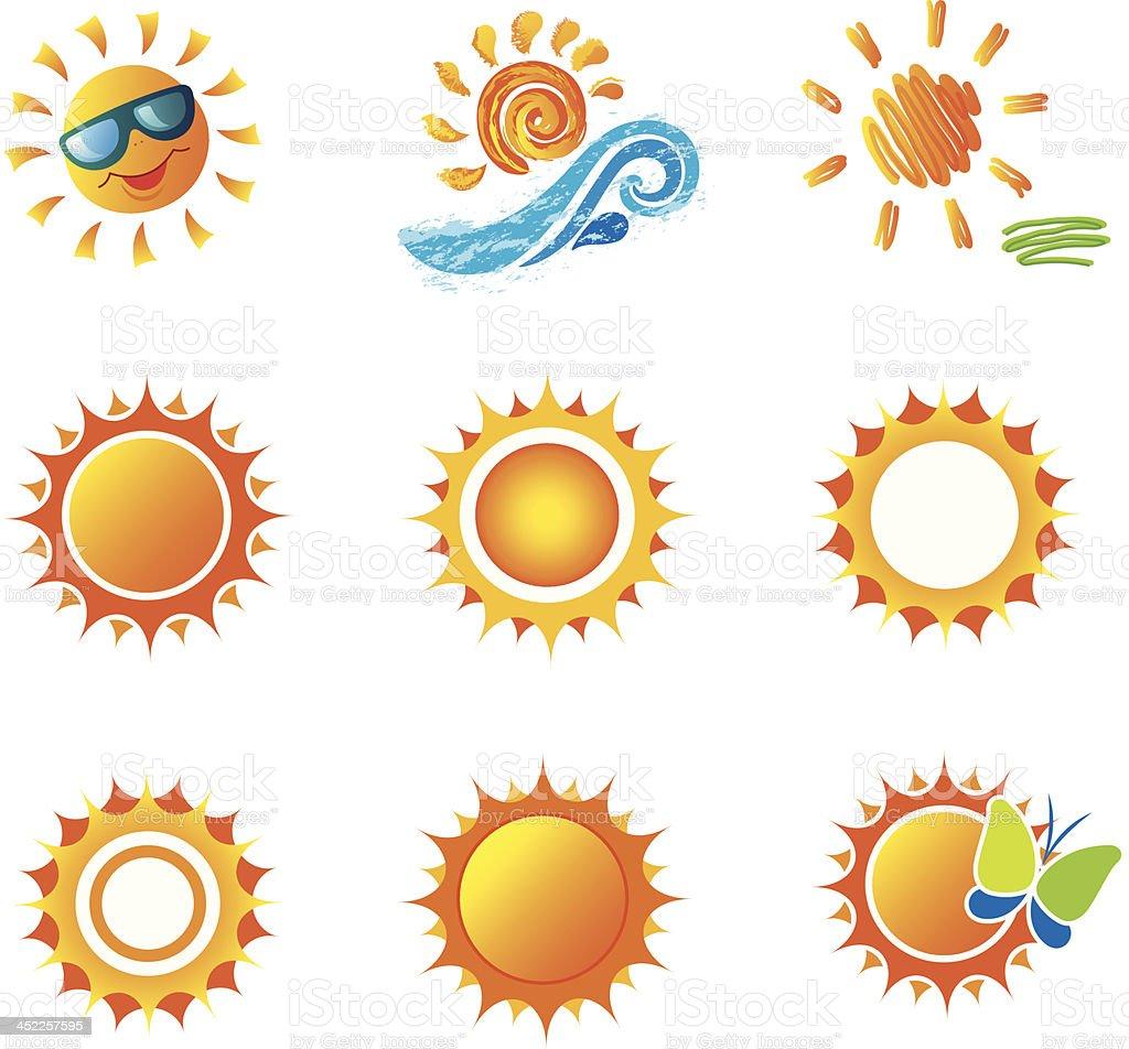 Set of Suns. royalty-free stock vector art