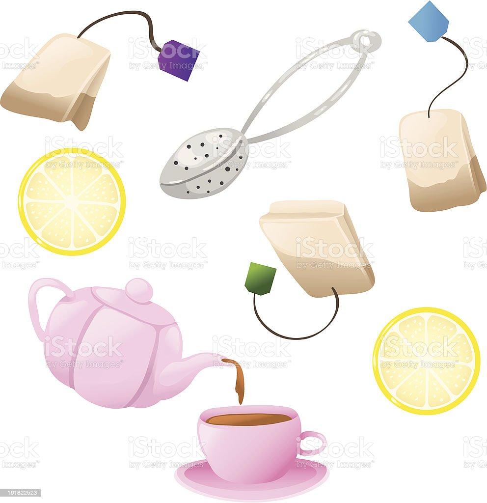 Set of tea icons royalty-free stock vector art