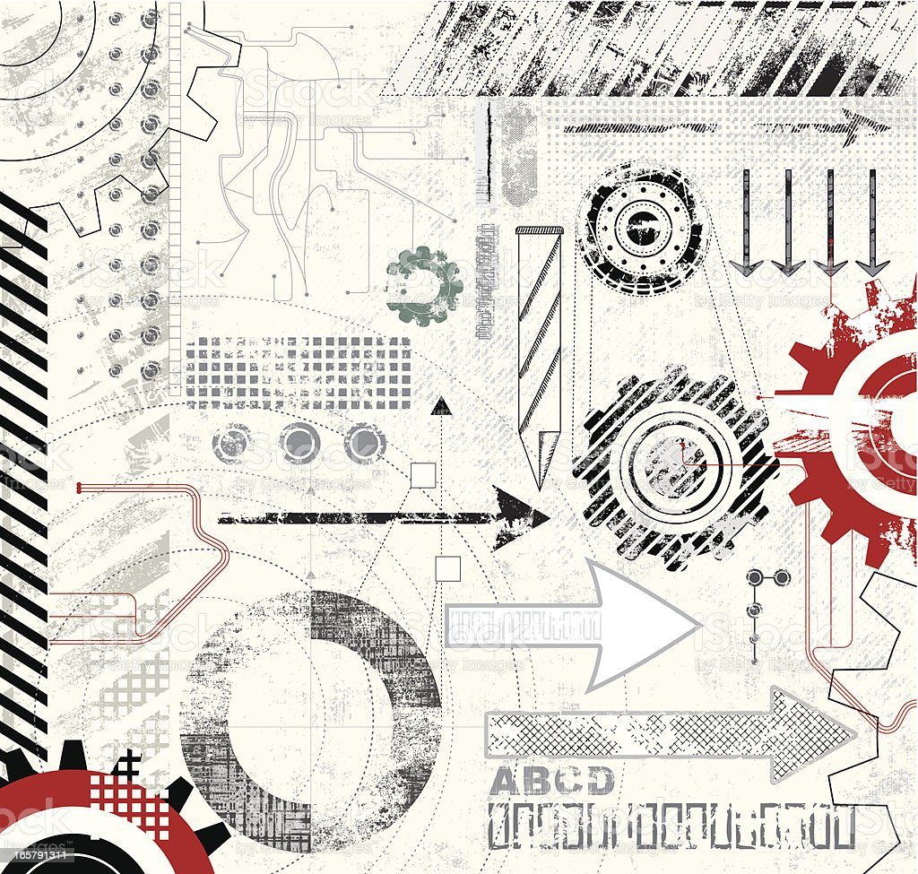 Set of Technical Elements royalty-free stock vector art