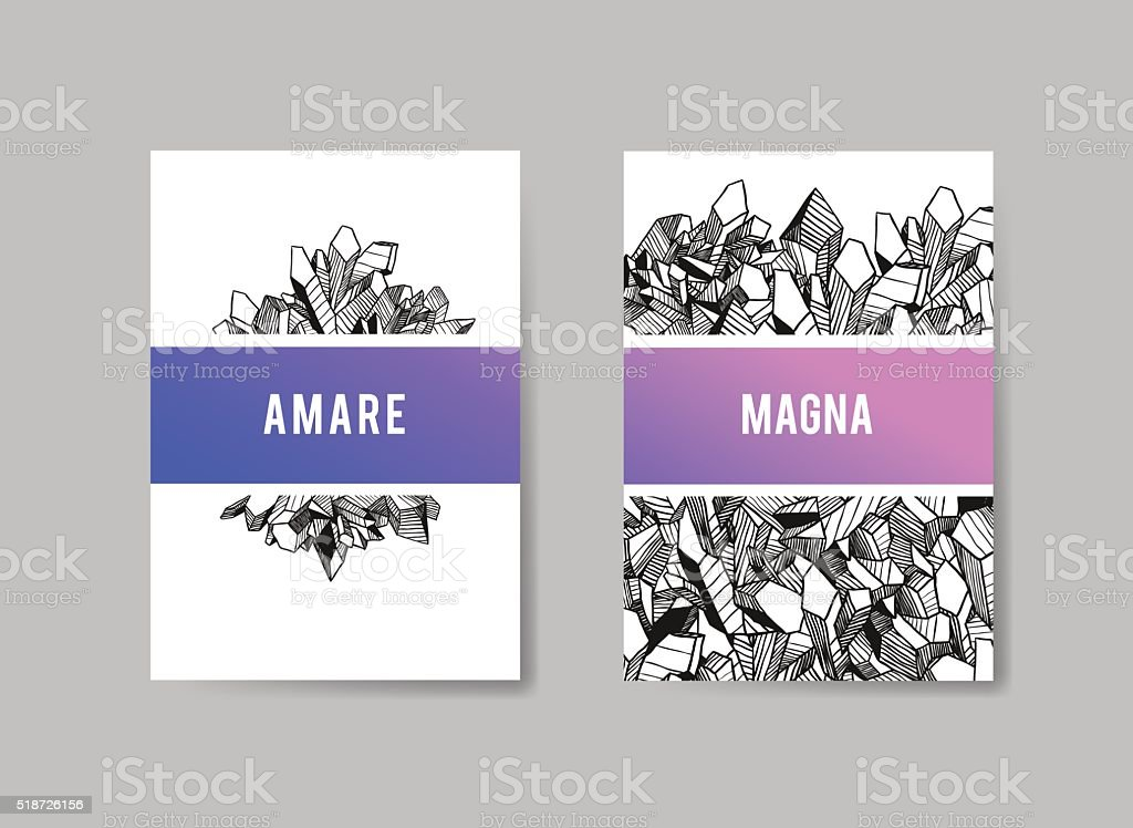 Set of Templates Brochures. Abstract Background. Vector for Underground Design vector art illustration