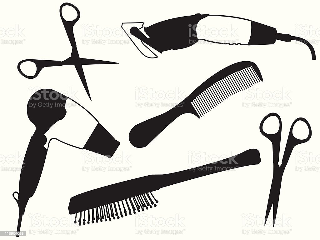 Set of the hairdresser royalty-free stock vector art