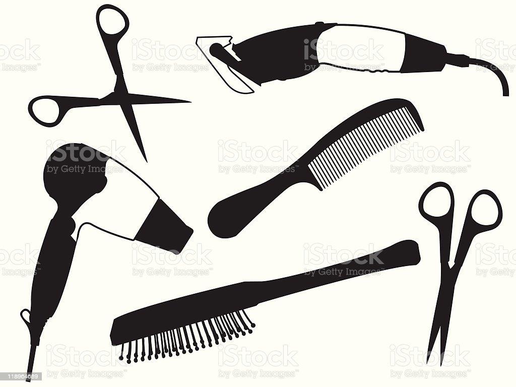 Set of the hairdresser vector art illustration