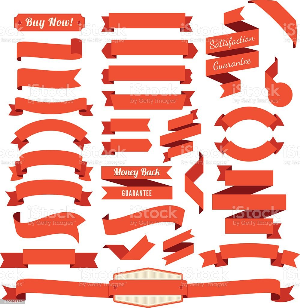 Set of the Ribbons. vector art illustration