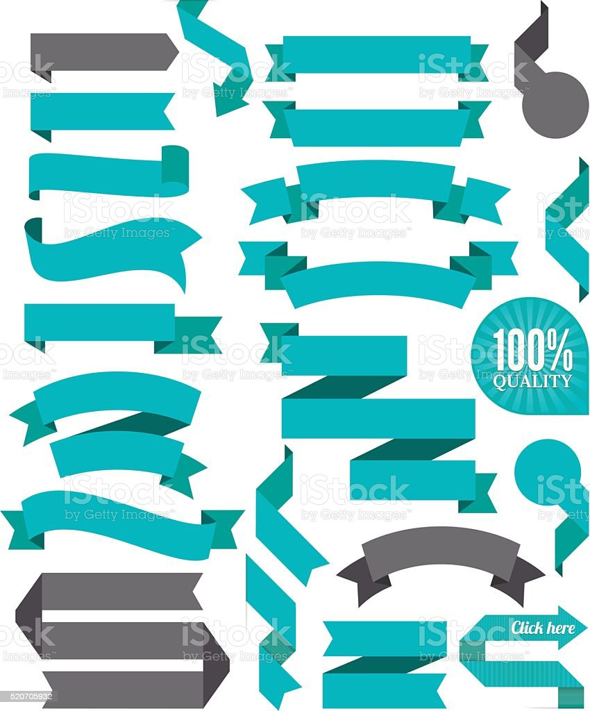 Set of the Ribbons vector art illustration
