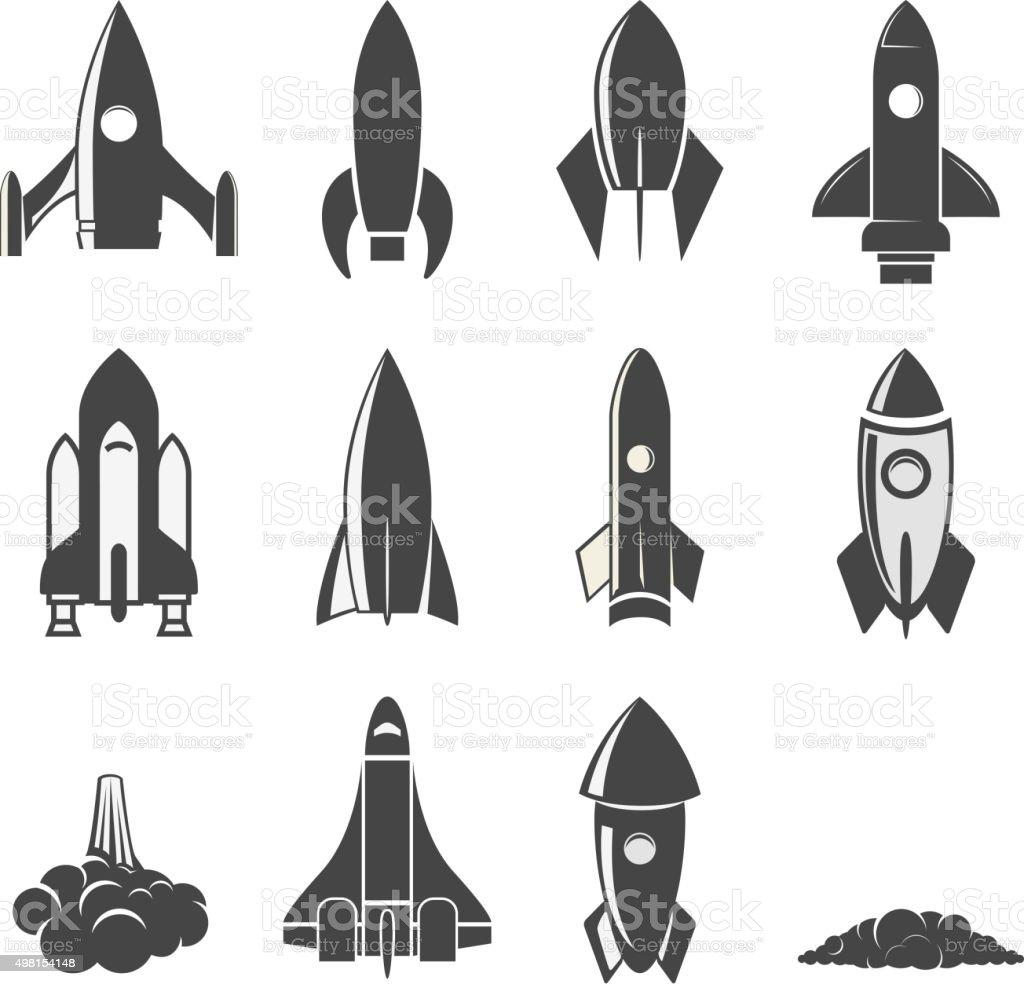 Set of the vector rockets. vector art illustration