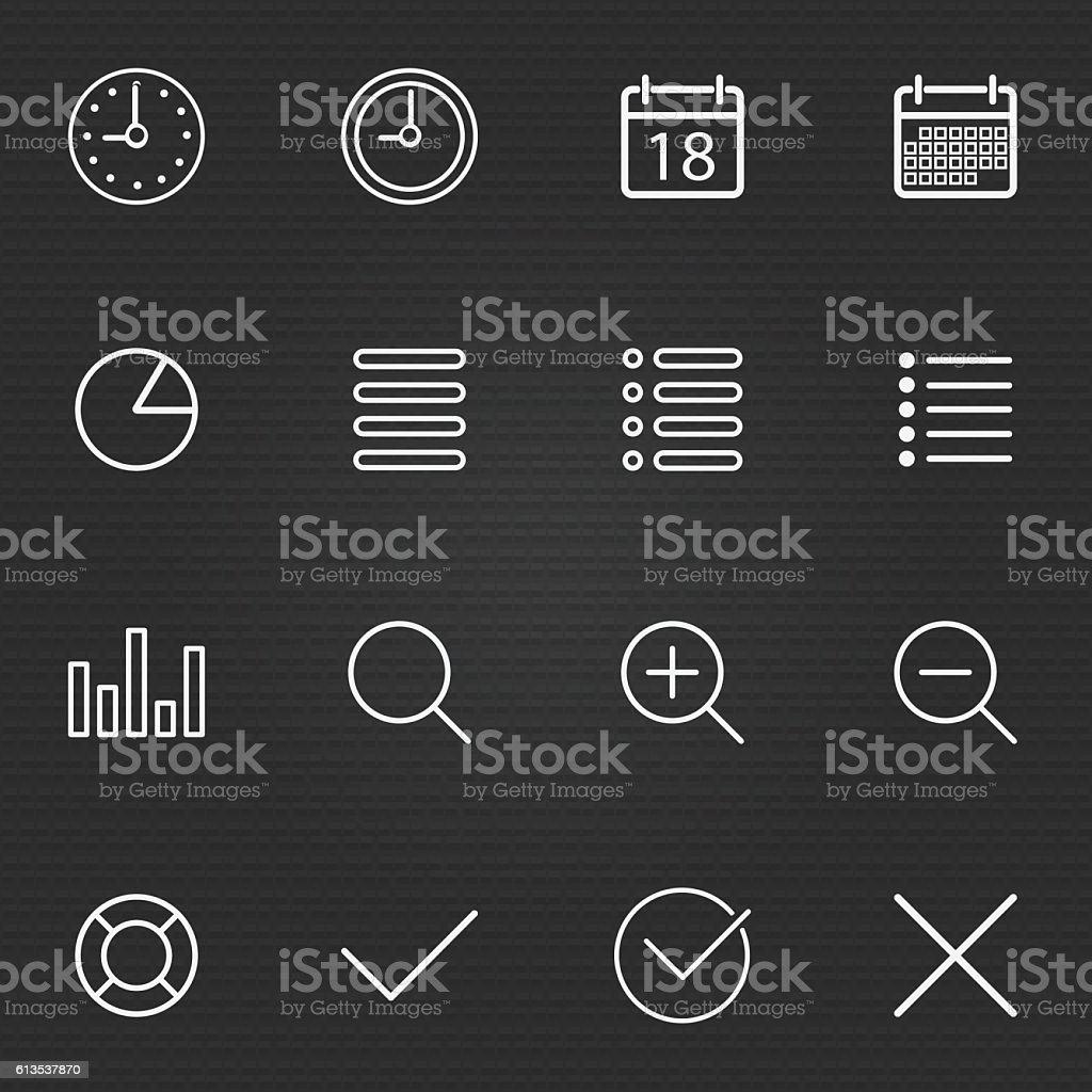 Set of Thin Line Stroke General Icons Vector Illustration vector art illustration