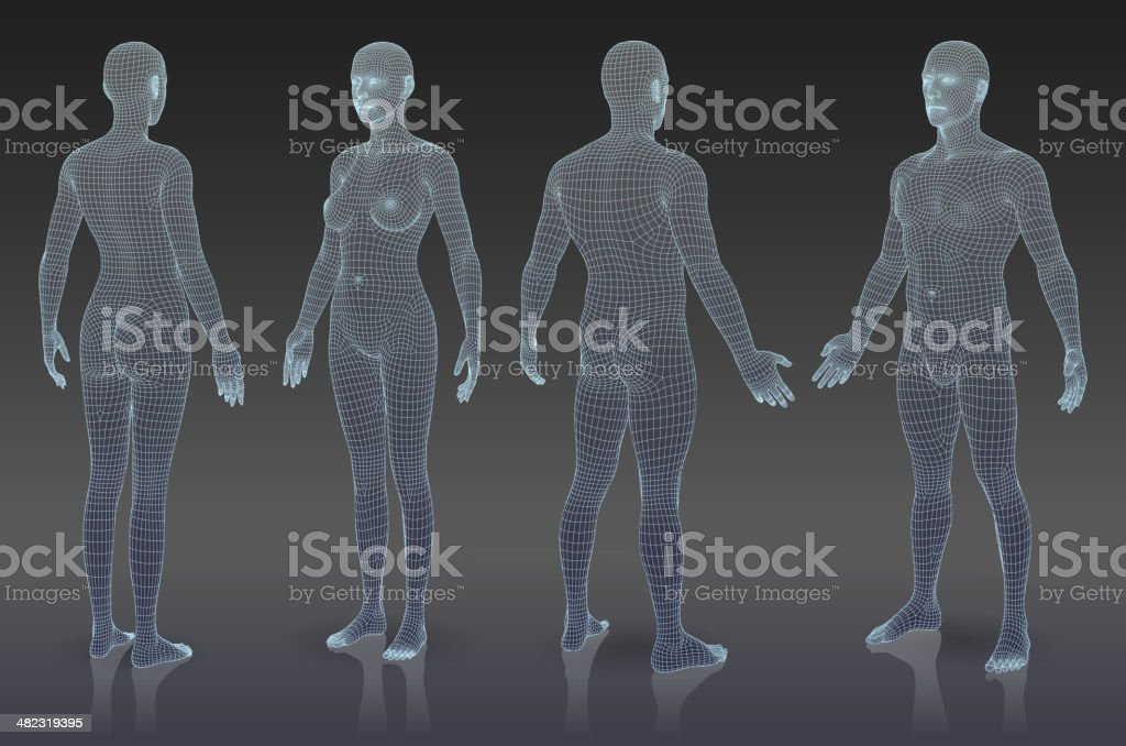 Set of three dimensional bodies. vector art illustration