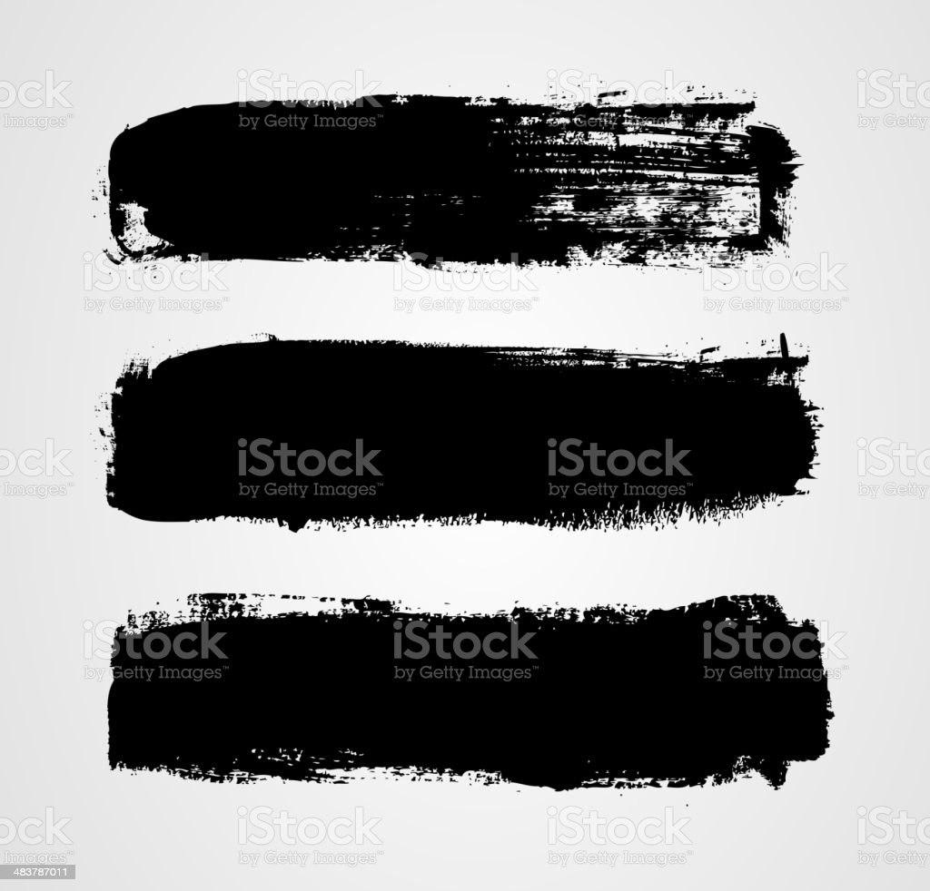 Set of three grunge banners vector art illustration