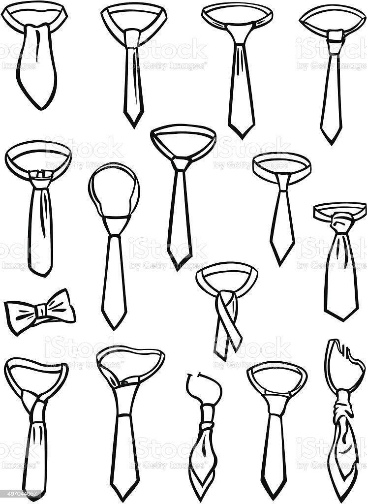 Set of ties vector art illustration