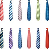 Set of ties with colorful prints