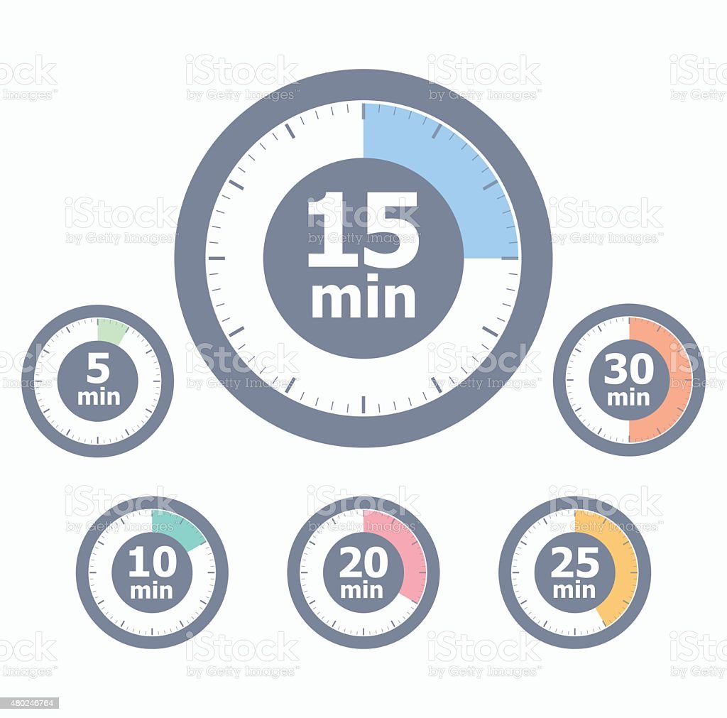 Set of timers vector art illustration