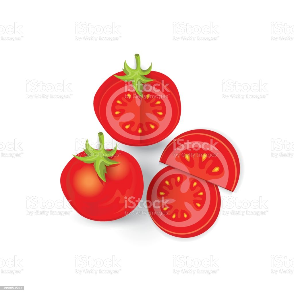set of tomato icon and food vector vector art illustration