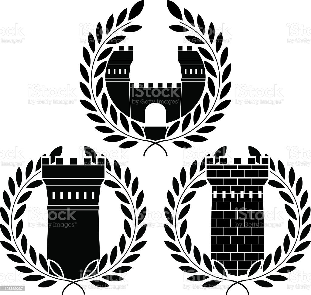 set of towers royalty-free stock vector art
