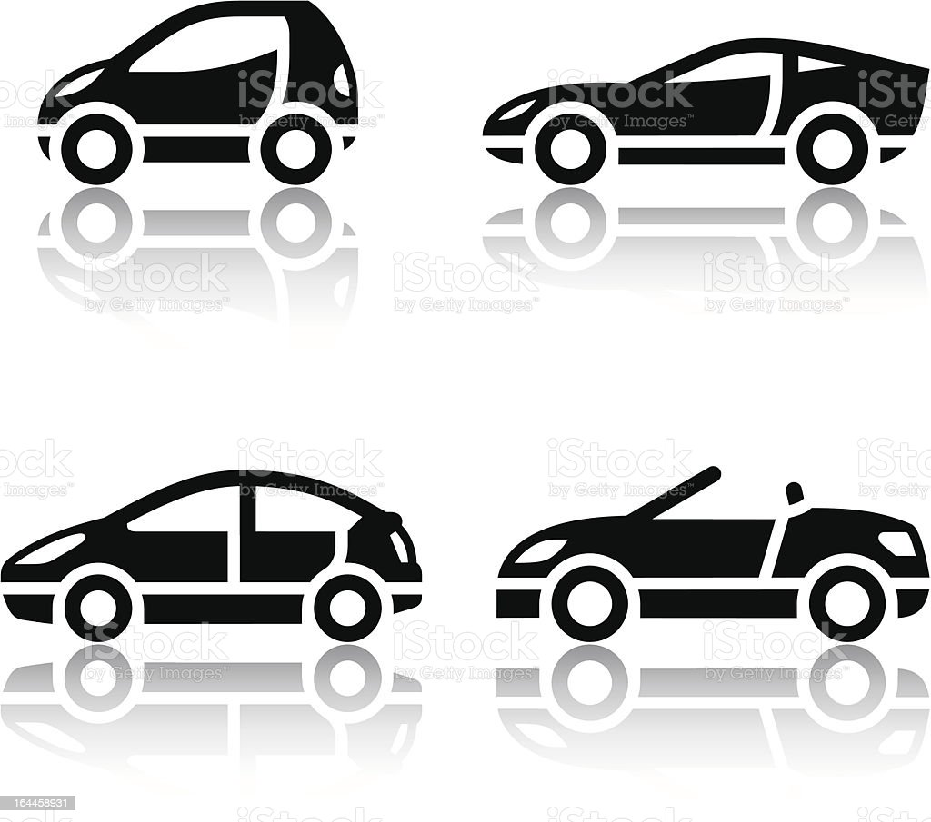 Set of transport icons - Vehicles vector art illustration