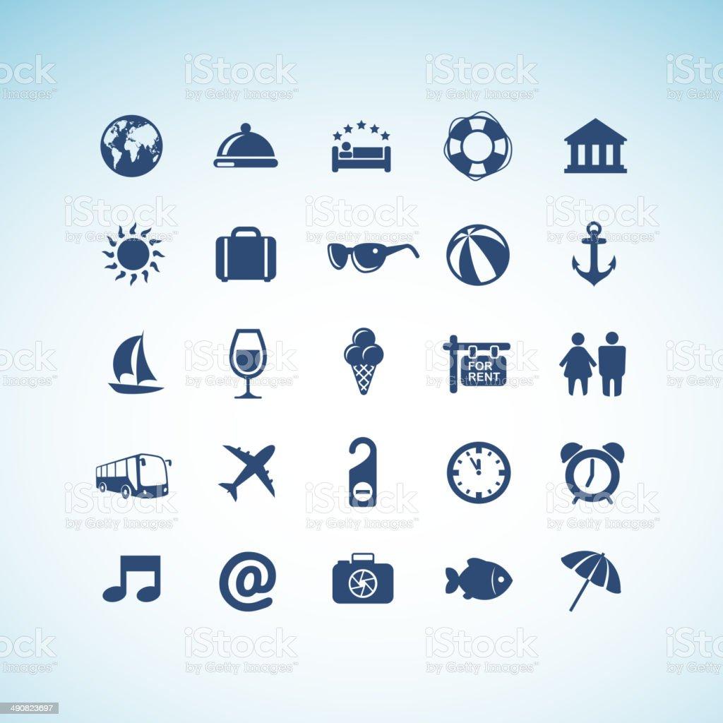 Conjunto de iconos de viaje illustracion libre de derechos libre de derechos