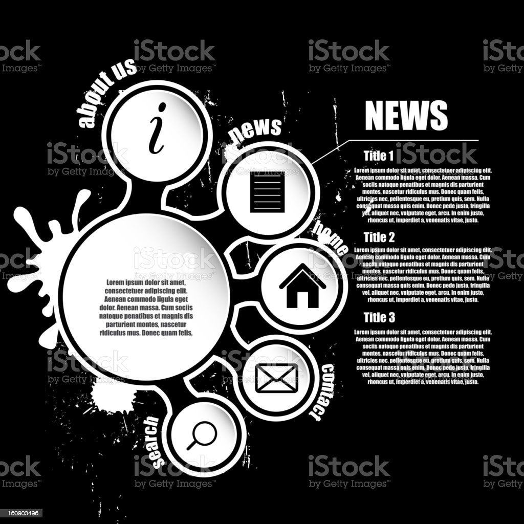 Set of trendy web banners. Vector illustration. stock photo