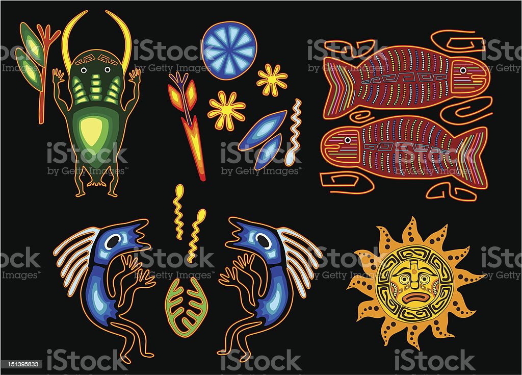 Set of tribal elements royalty-free stock vector art