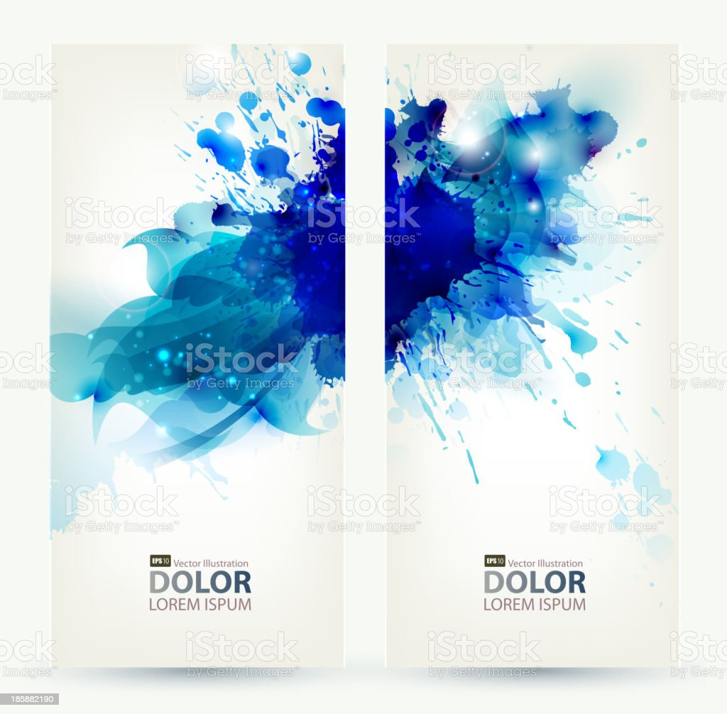 set of two banners royalty-free stock vector art