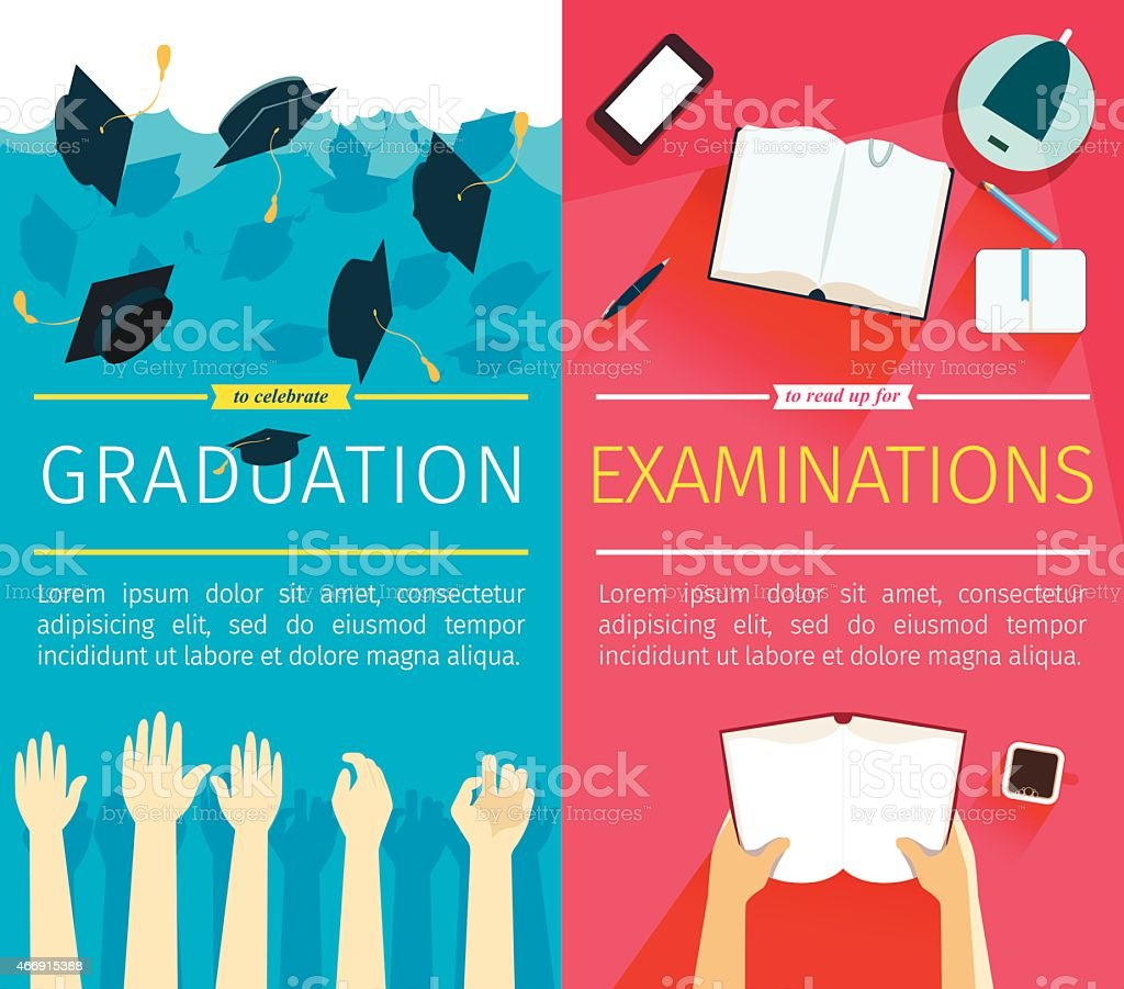 Set of two vector education banners vector art illustration