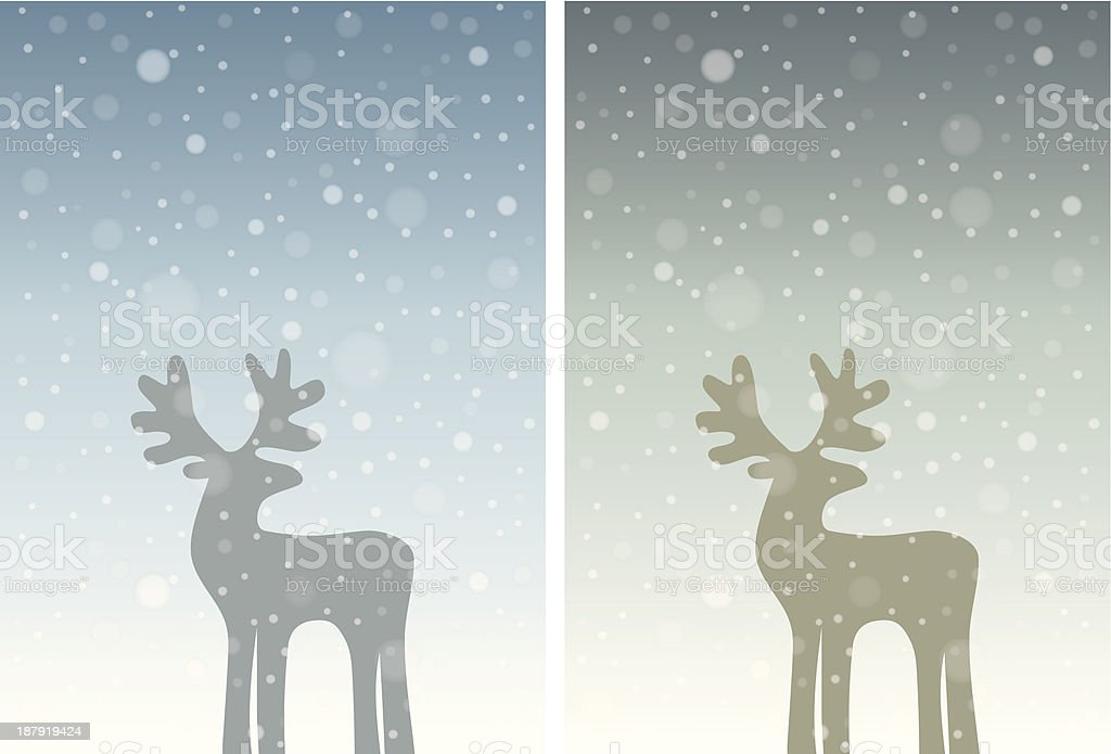 Set of two winter holiday backgrounds royalty-free stock vector art