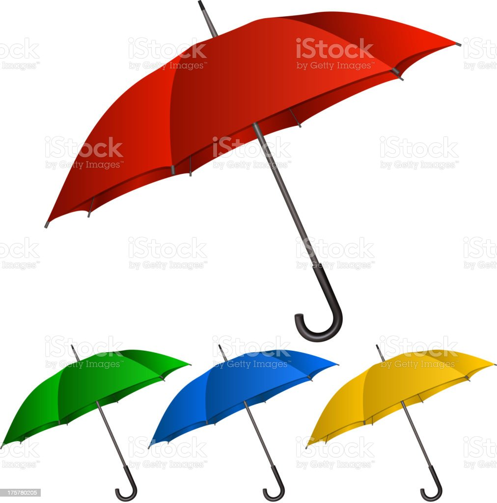 Set of umbrellas on white background royalty-free stock vector art