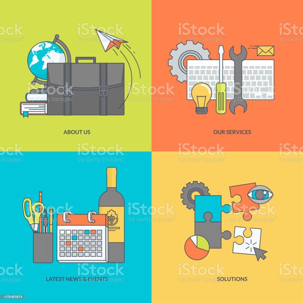 Conjunto de iconos de colores de línea universal illustracion libre de derechos libre de derechos