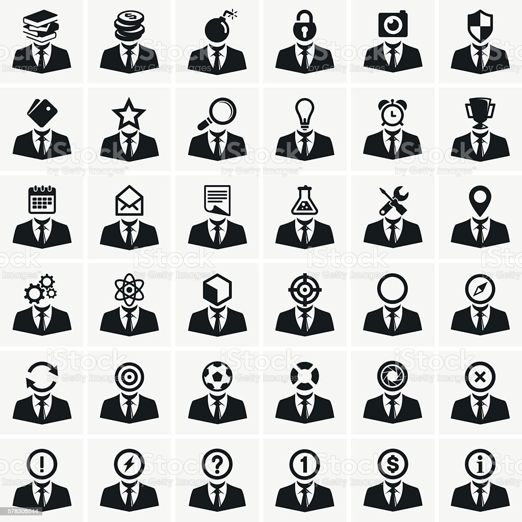 Set of universal icons vector art illustration