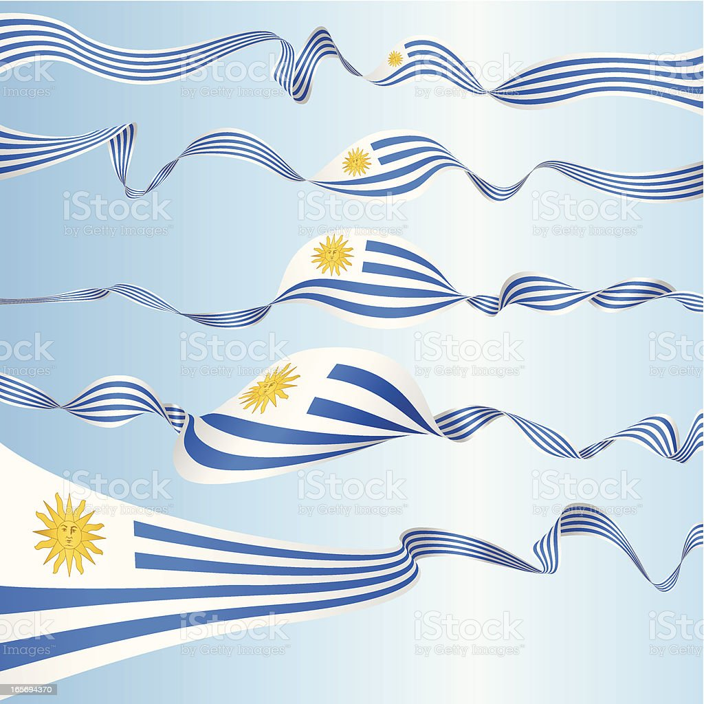 Set of Uruguayan Banners royalty-free stock vector art