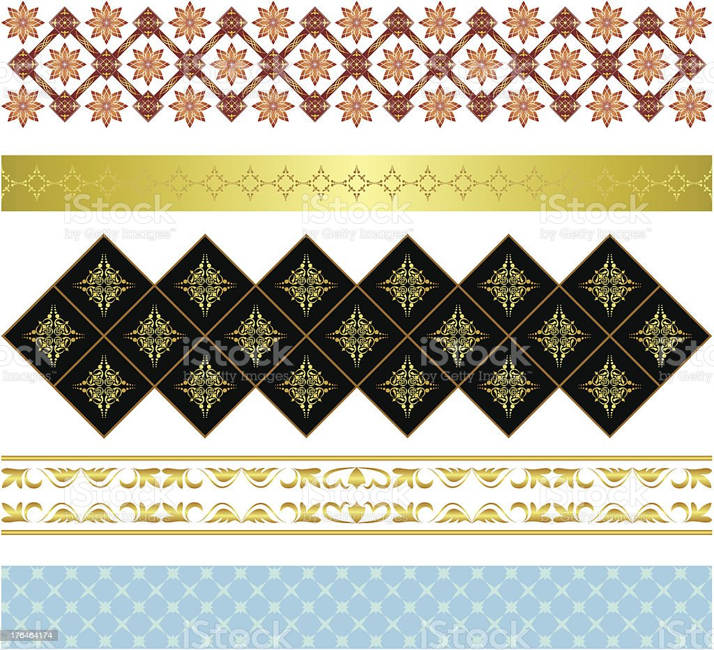 set of various vector ornaments royalty-free stock vector art