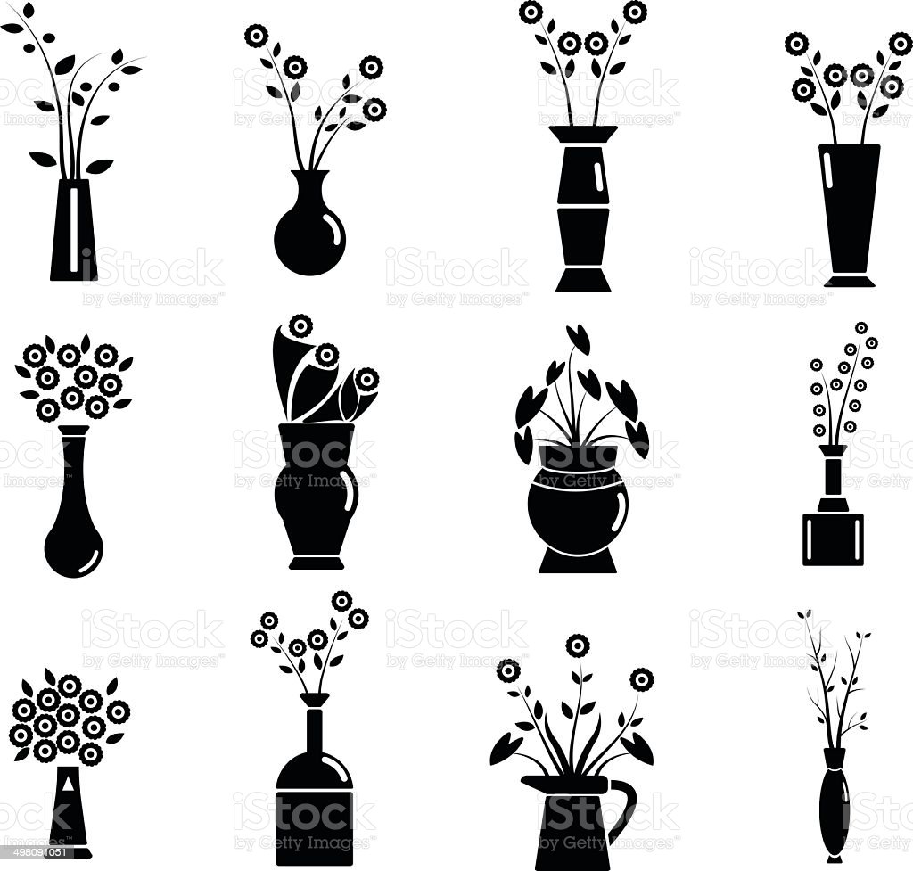 Set of Vase Vector Illustration vector art illustration