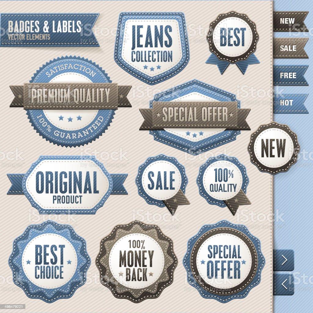 Conjunto de vector tarjetas y etiquetas illustracion libre de derechos libre de derechos