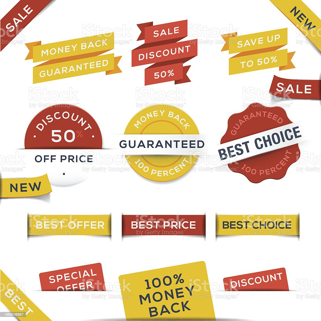 Set of vector badges and stickers. royalty-free stock vector art
