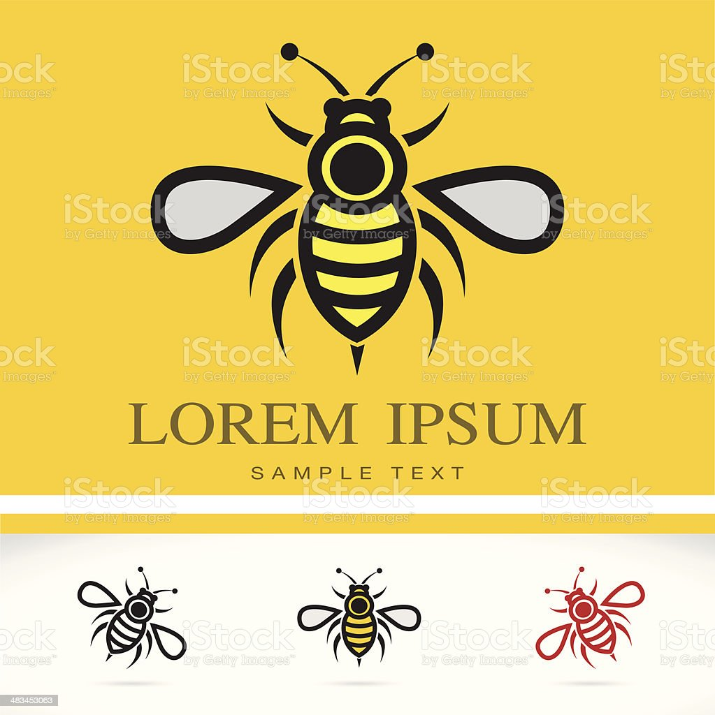 Set of vector bee icons vector art illustration