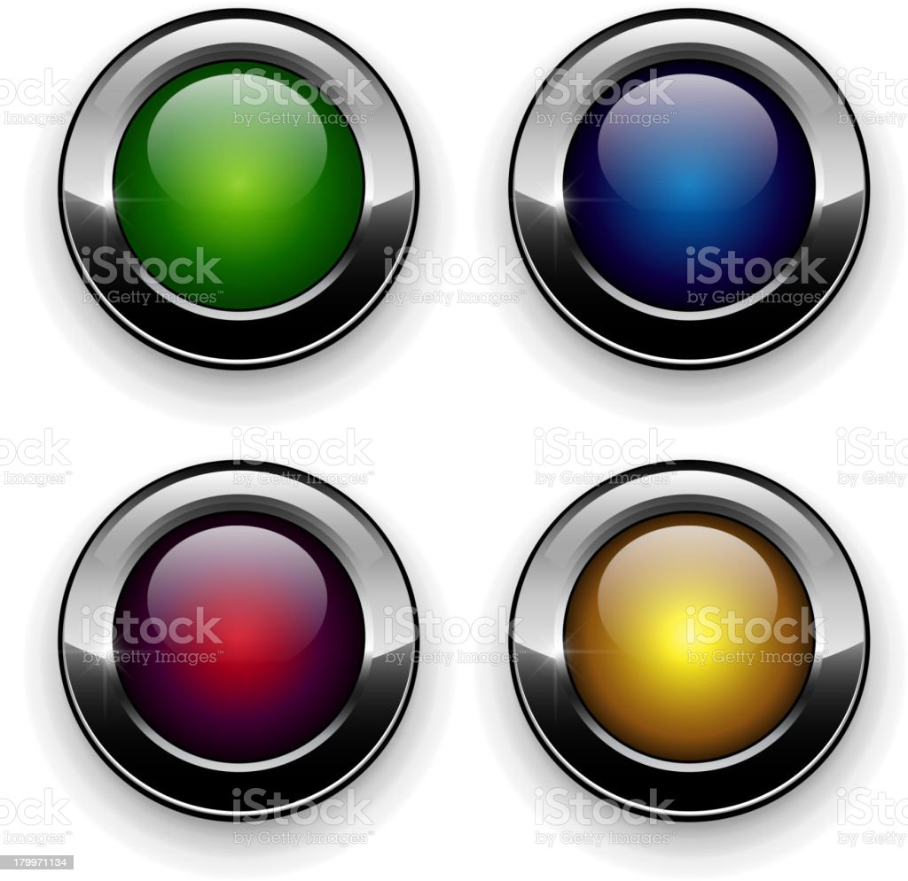 Set of Vector Buttons royalty-free stock vector art