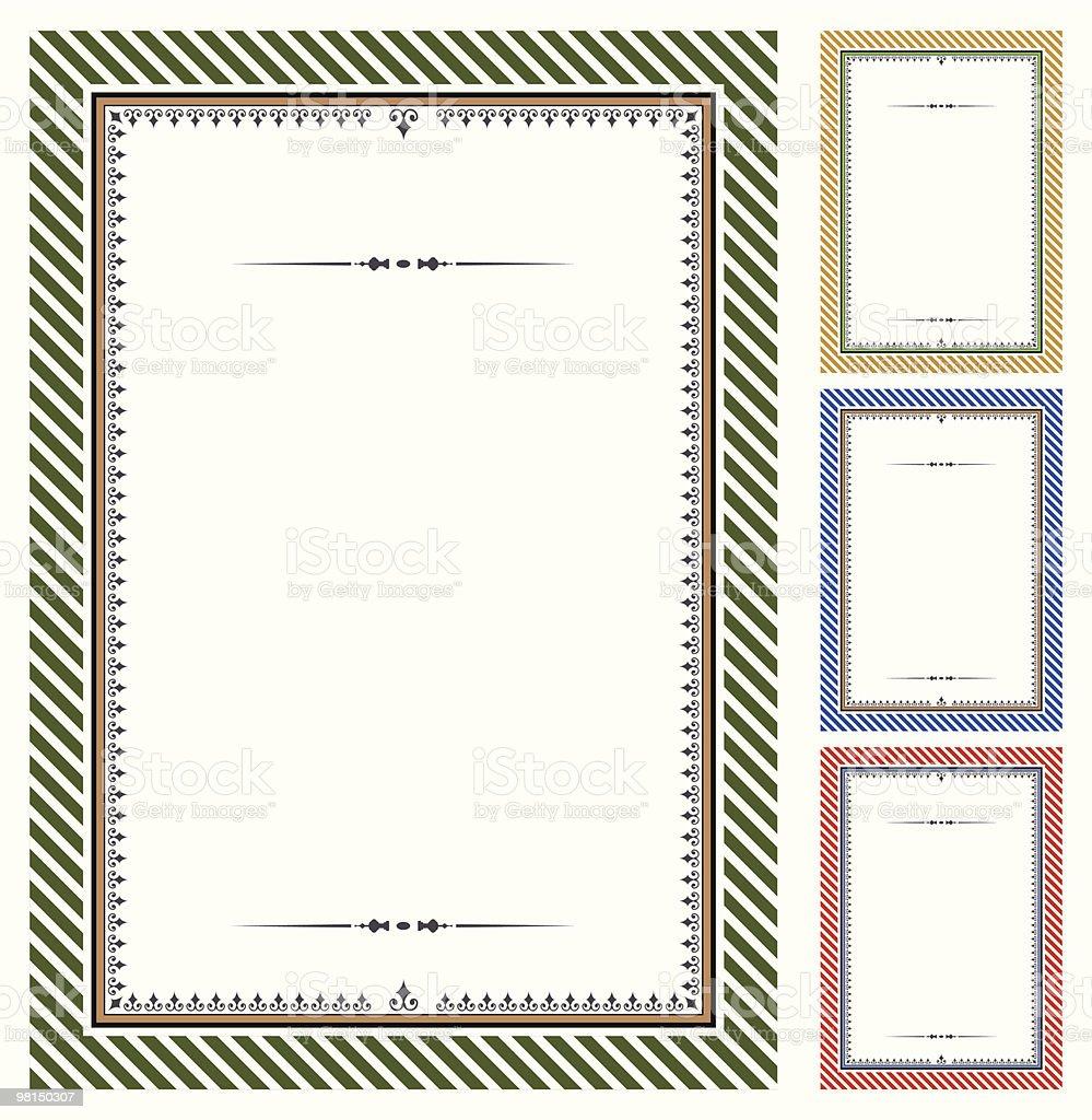 Set of vector certificates royalty-free stock vector art