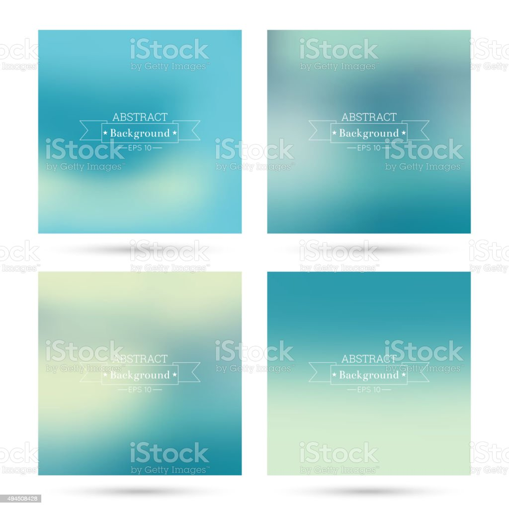 Set of vector colorful abstract backgrounds vector art illustration