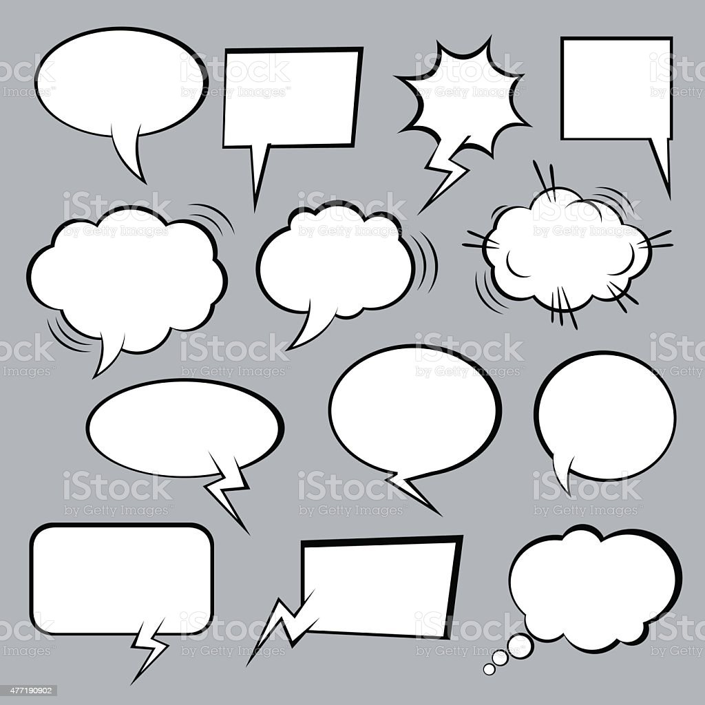 Set of vector comic speech bubbles. vector art illustration