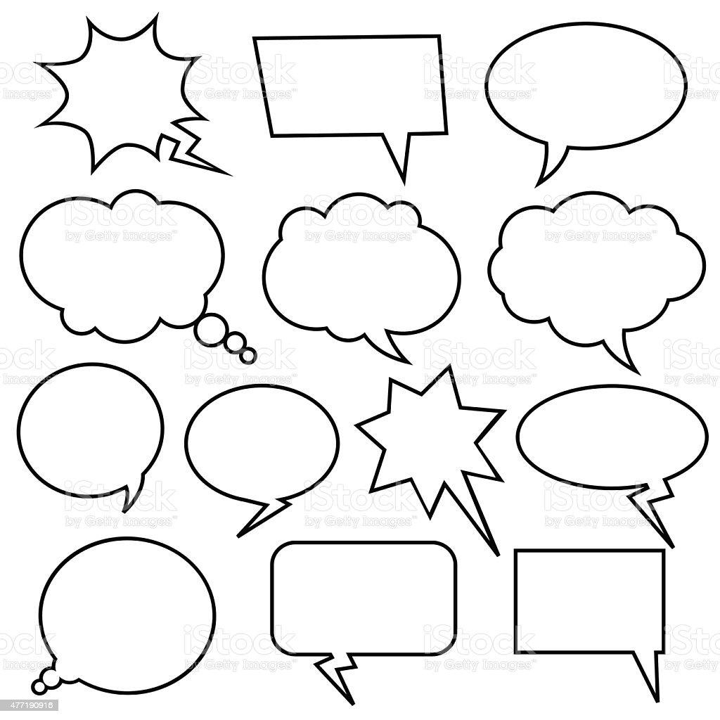 Set of vector comic speech bubbles. vector art illustration