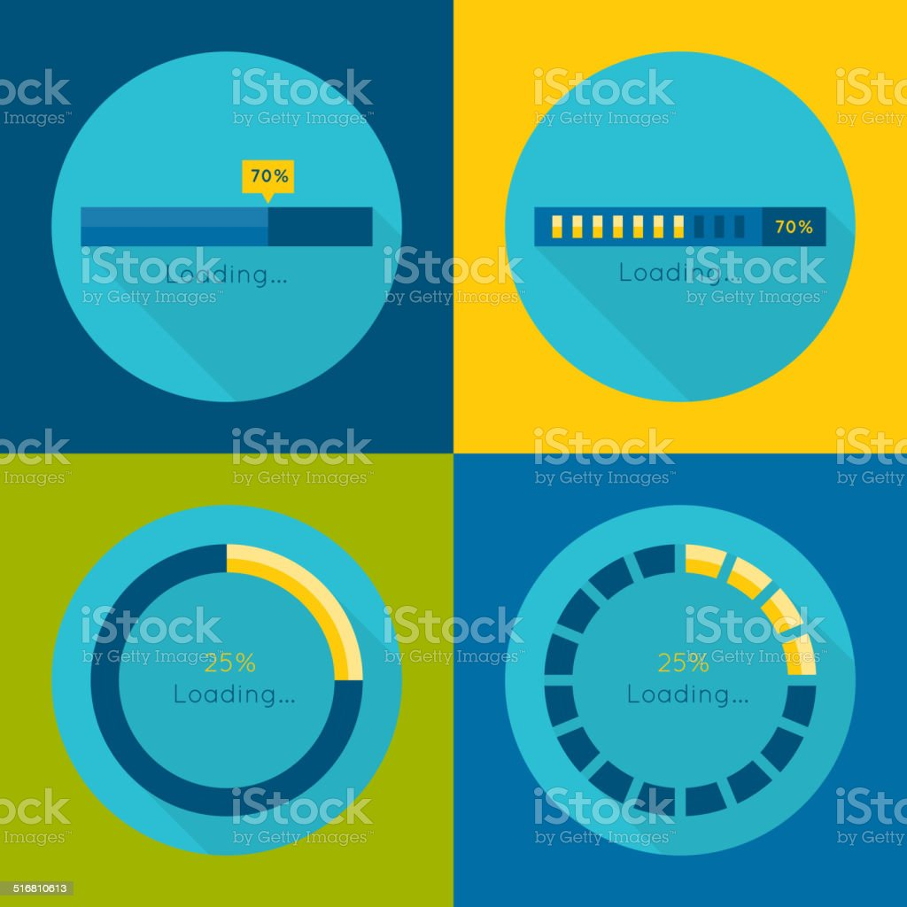 Set of vector downloaders. vector art illustration