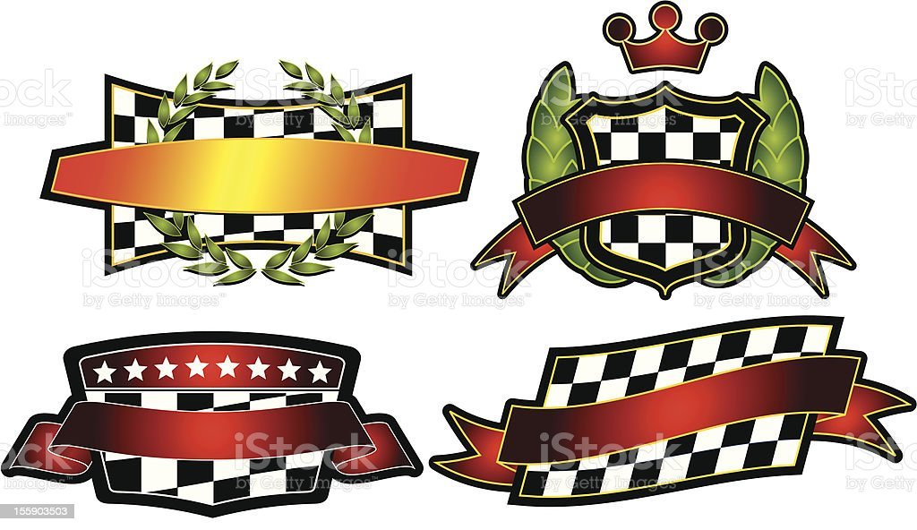 Set of Vector Emblems & Crest royalty-free stock vector art
