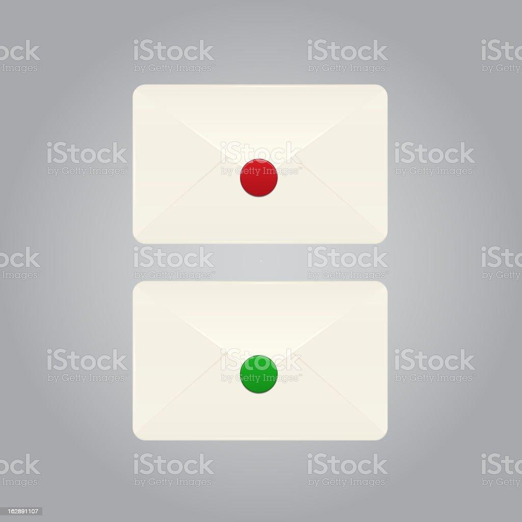 Set of vector envelopes royalty-free stock vector art