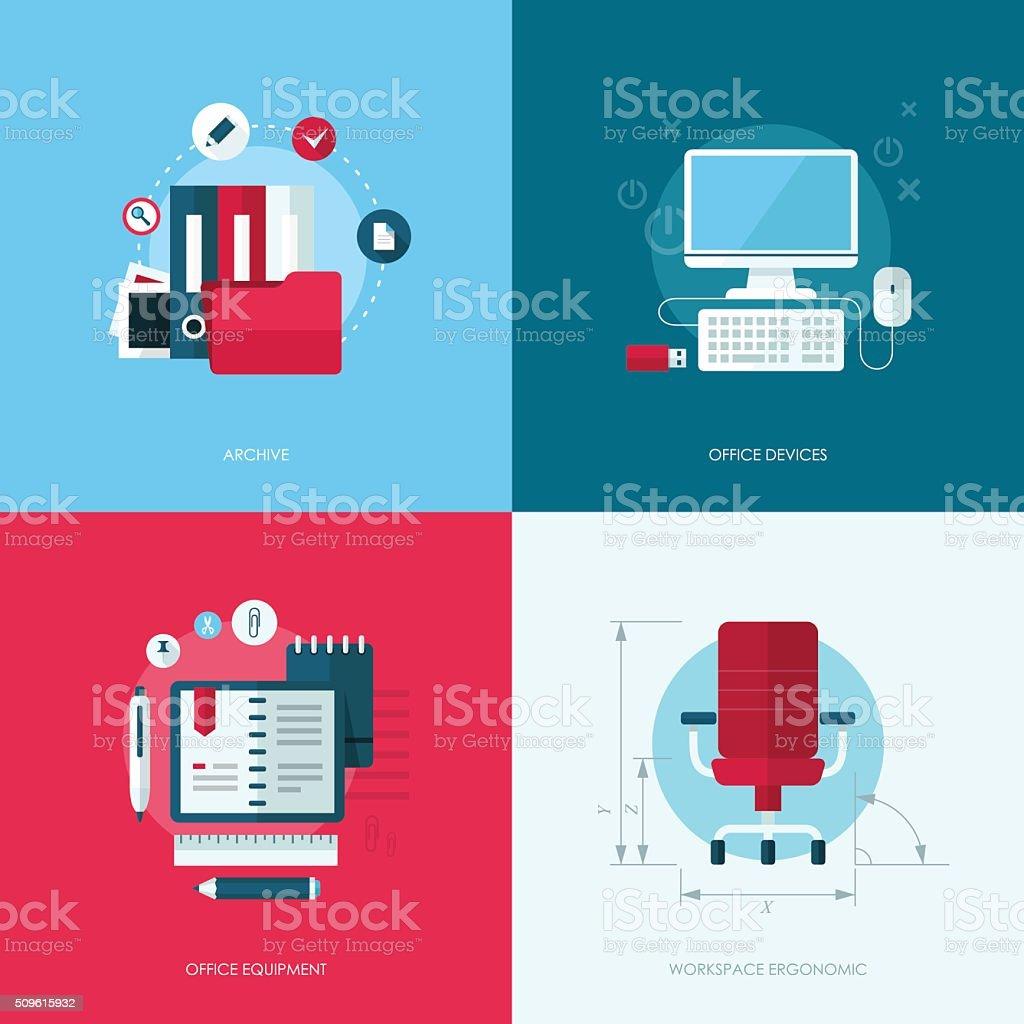 Set of vector flat design concept illustrations vector art illustration