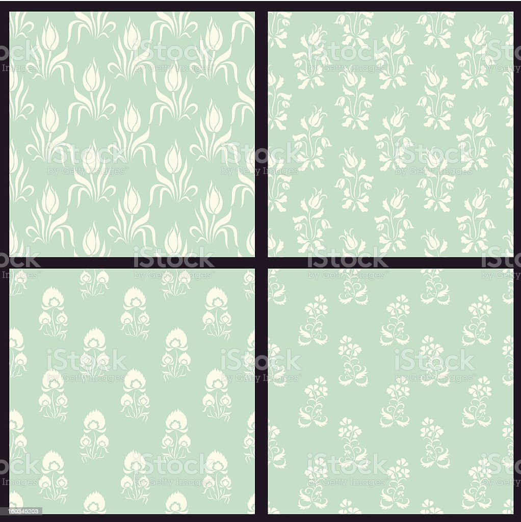 Set of vector floral backgrounds royalty-free stock photo