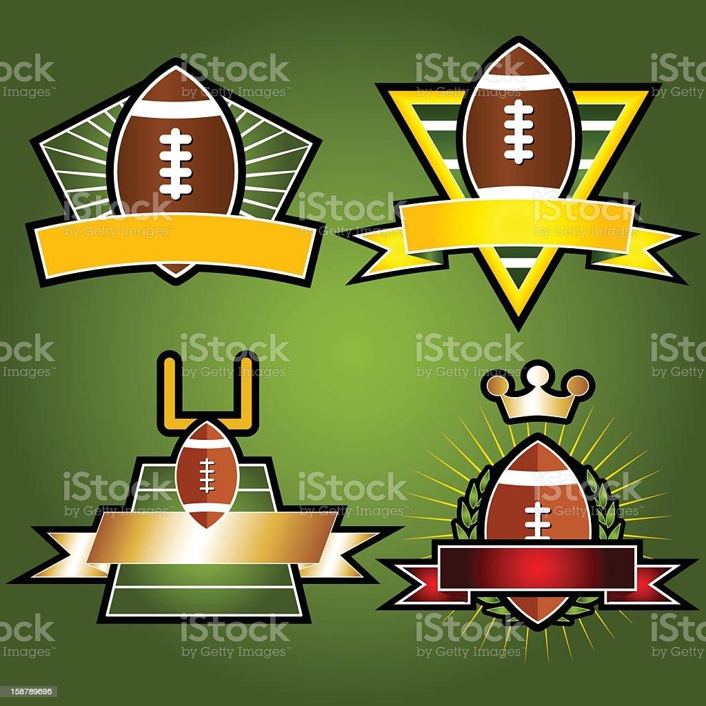 Set of Vector Football Emblems & Crests stock photo