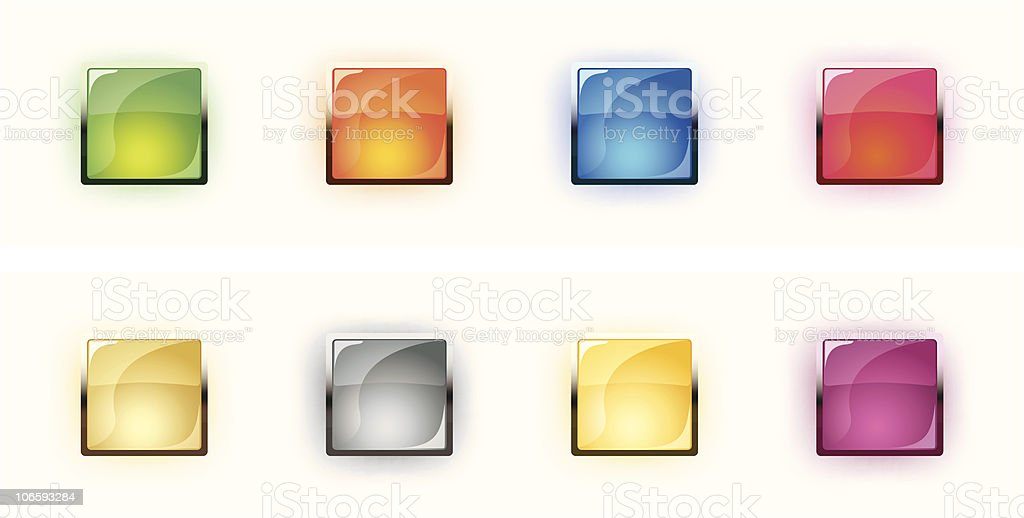 Set of vector glass buttons royalty-free stock vector art