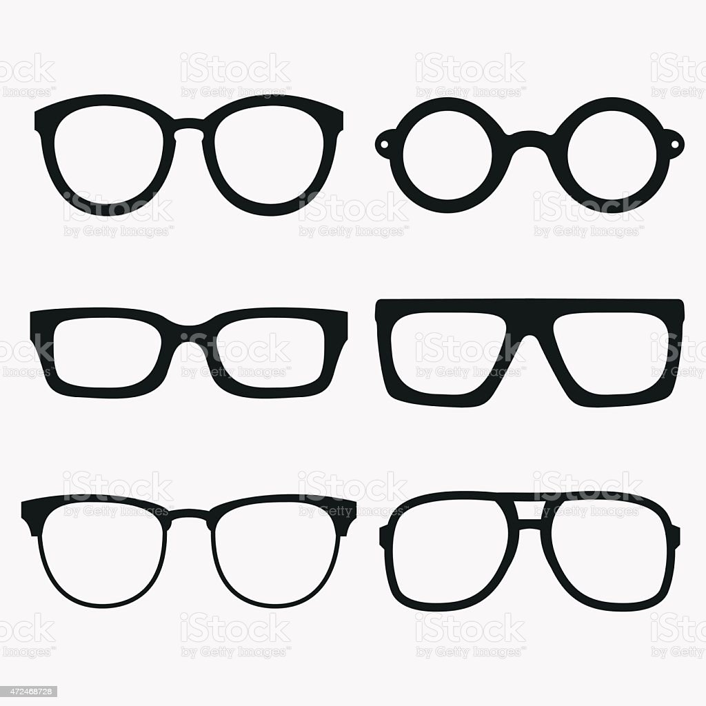 Set of Vector Glasses Frames vector art illustration
