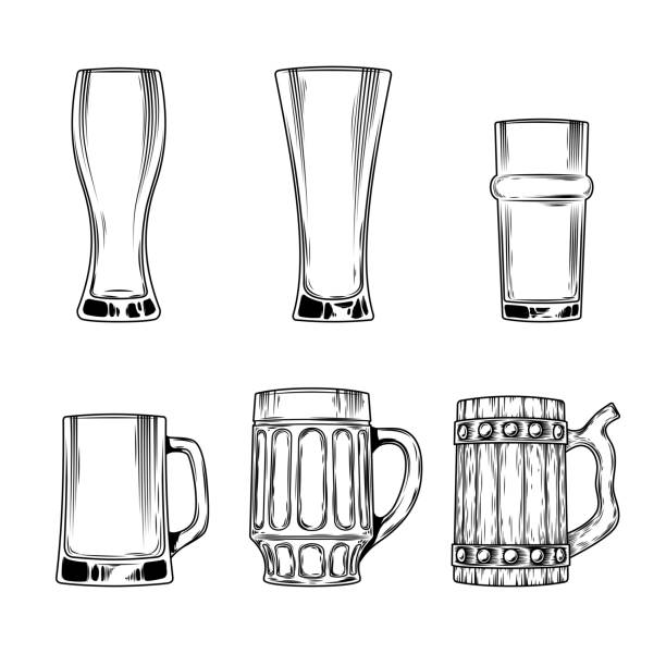 Empty Beer Glass Clip Art, Vector Images & Illustrations ...